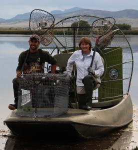 Jenny and Taylor on Airboat